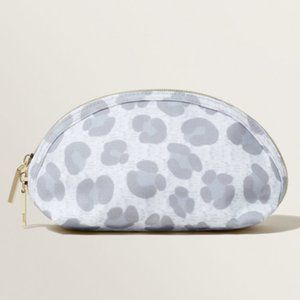 Seed Heritage Grey Animal Print Small Cosmetics Case Pouch Bag